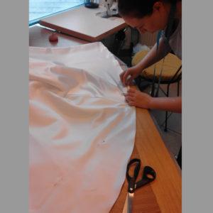 obcięcie trenu sukni ślubnej